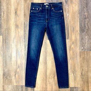 Zara Woman High Rise Skinny Ankle Jeans